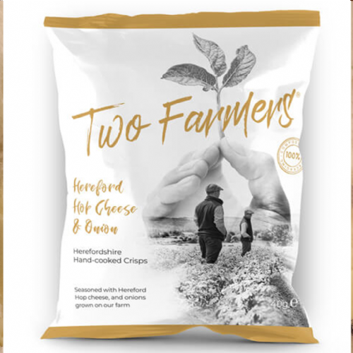 Two Farmers, Hereford Hop Cheese and Onion crisps